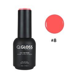 Q.GLOSS Gel Polish #8