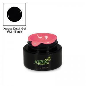 Xpress Detail Gel - BLACK #12