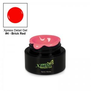 Xpress Detail Gel - BRICK RED #4