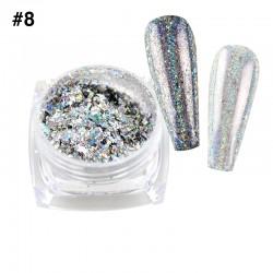 Mirror Chrome Powder #8 - (1/8oz)