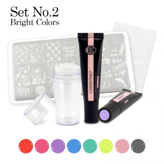 Stamping & Painting Gel Set - No. 2 - OUT OF STOCK