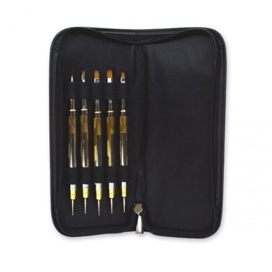 Gold Brush Set