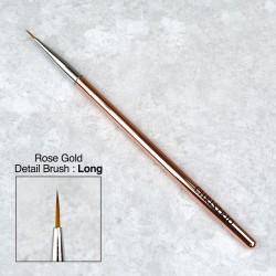 Rose Gold Detailed Art Brush - Long