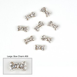 Bow Charms #09 - (Large 10 pcs)