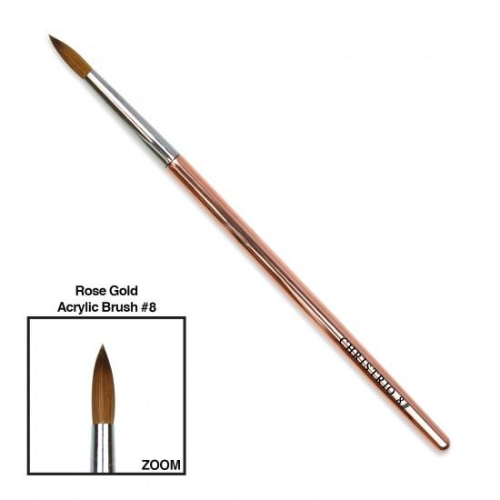 Rose Gold Acrylic Brush #8